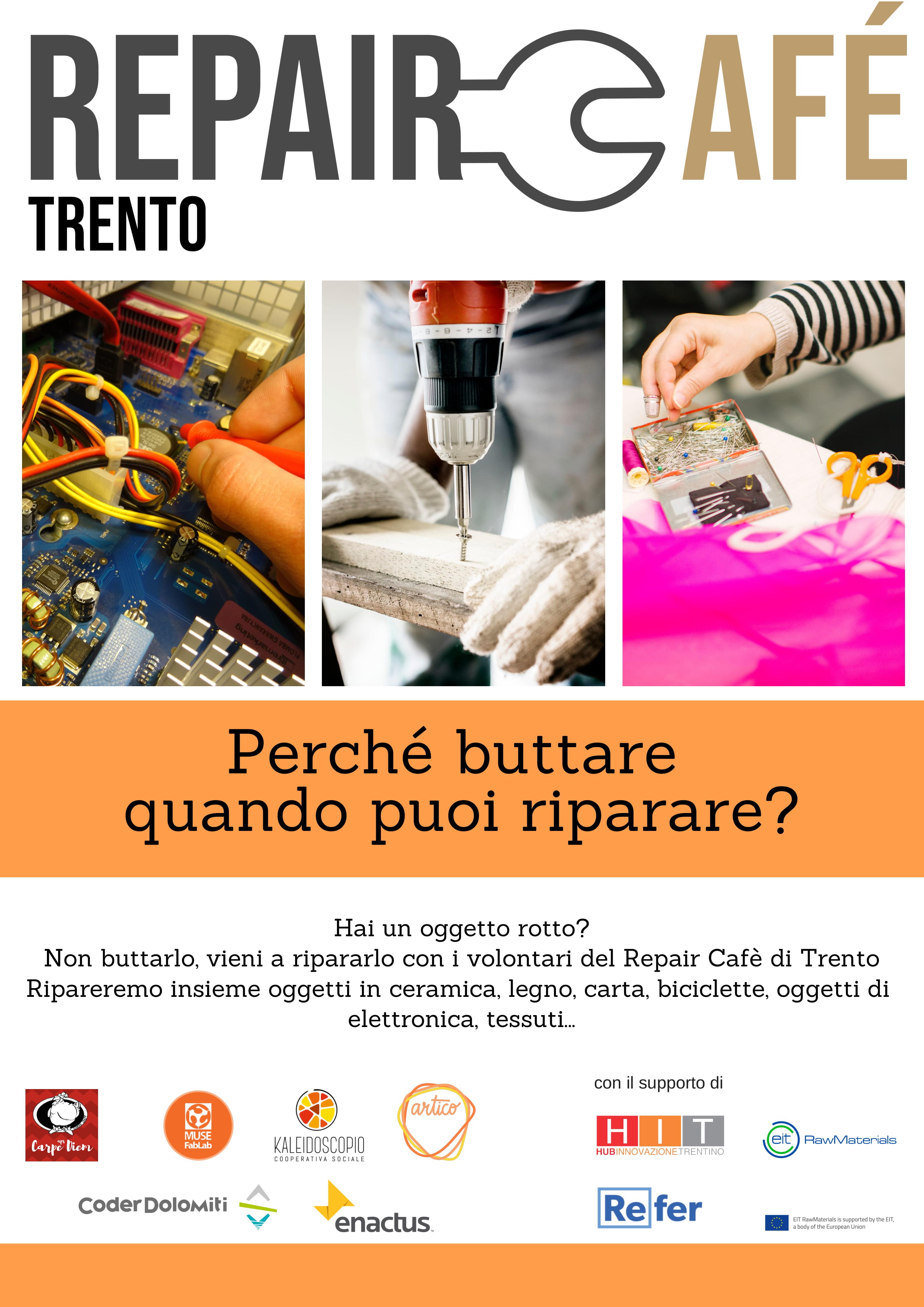 I Repair Café ritornano in Trentino